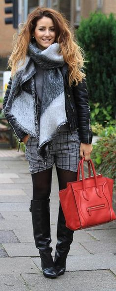 Chic fall look with shorts♥✤ | Keep Smiling | BeStayBeautiful