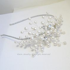 Swarovski White Pearls  Bridal headbands