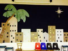 Nativity scenery christmas play
