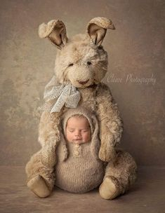 BEIGE Bunny Swaddle Wrap with Hat, Photo Prop, Bunny Hat and Wrap - one pieces Newborn Baby Photos, Baby Poses, Newborn Pictures, Baby Pictures, Baby Bunny Outfit, Bunny Hat, Newborn Photography, Family Photography, Children Photography