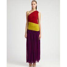 Jean Paul Gaultier Long Colorblock Dress