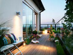 myidealhome: Foto por roland persson Outra realmente agradável pátio / jardim varanda.