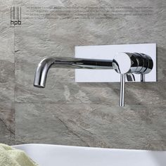 A wall-mounted basin mixer is ideal for a modern, minimal scheme ...
