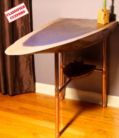 Hey, I found this really awesome Etsy listing at https://www.etsy.com/listing/220327281/handmade-walnut-and-copper-end-table