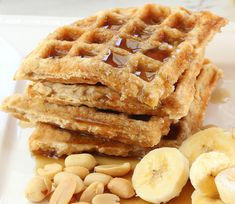 Peanut Butter Waffles by kimkelly.smugmug #Waffles #Peanut_Butter
