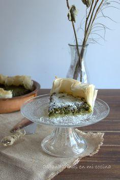2Mandarinas en mi cocina: Pastel de espinacas con pasta brick