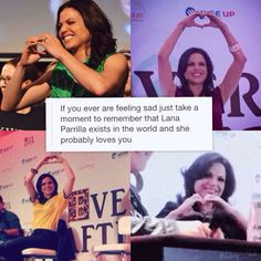 Awesome Lana making an awesome ❤️ with her hands at the FairyTales 3 Con in Paris France Saturday 6-20-15 (top left) the EverAfterCon in Rio de Janeiro Brazil Saturday 6-27-15 (top right) at the EverAfterCon in Rio de Janeiro Brazil Sunday 6-28-15 (bottom left) either at the FairyTales 3 Con in Paris France Saturday 6-20& Sunday 6-21-15 or at the EverAfterCon in Rio de Janeiro Brazil Saturday 6-27& Sunday 6-28-15 (bottom right)