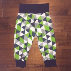 A personal favorite from my Etsy shop https://www.etsy.com/listing/252863334/seahawks-triangle-pants