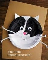 Our cat was the inspiration for this Tissue Paper Paper on Paper Plate Cat Craft, an easy and fun craft for kids! Crafts for kids Tissue Paper on Paper Plate Cat Craft Paper Plate Art, Paper Plate Animals, Paper Plate Crafts For Kids, Animal Crafts For Kids, Fun Crafts For Kids, Craft Activities For Kids, Toddler Crafts, Preschool Crafts, Paper Plates