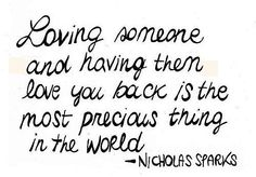 loving someone and having them love you back is the most precious thing in the world <3