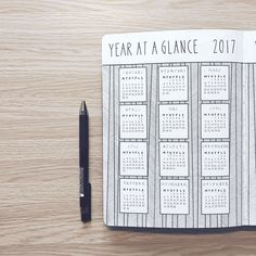 Sandy @abulletandsomelines's Bullet Journal year at a glance