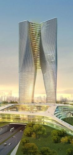 Tower G, Chengdu, China by Y Design Studio ☮ || Weekly architecture inspiration for everyone! Introducing Moire Studios a thriving website and graphic design studio. Feel Free to Follow us @moirestudiosjkt for more amazing pins like this. Or visit our website www.moirestudiosjkt.com to know more about us. #architecture #houseArchitecture #modernArchitecture || ☮ #futuristicarchitecture