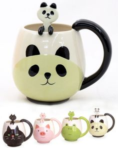 Japanese kawaii cups and spoons