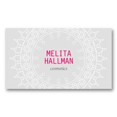 Moroccan-inspired decorative lace design - customizable business card for freelance makeup artists, cosmetics, crafters, hand-made artists, etsy shops, etc.