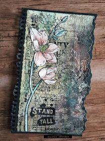 Notebook Covers, Journal Notebook, Studio Lighting, Art Journal Inspiration, Clear Stamps, Atc, Art Journals, Grunge, Mixed Media