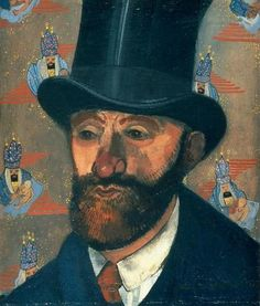 Felix Nussbaum (German, 1904-1944), Portrait of a Man with Beard and Top Hat, 1930