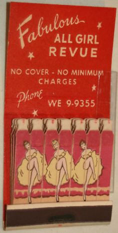 1940's Club Trocadero Chicago Girlie Pin Up Risque Feature Match Book Matchcover   eBay