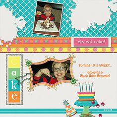 """Let's Eat Cake  Credits:  """"It's My Party"""" Collection (Quick Page A2) by Dees-Deelights  Available at:   My Memories Store  - Exclusive Quick PageA2 : –  https://www.mymemories.com/store/display_product_page?id=DDDR-CP-1502-80258  Coordinating Products Available at: My Memories Store: Main Kit - https://www.mymemories.com/store/designers/Dees-Deelights"""