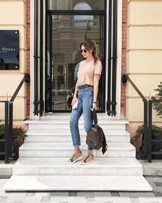 By @annalazdina Louis Vuitton Backpack, Fashion Backpack, Mom Jeans, Packing, Backpacks, My Style, Pants, Accessories, Collection