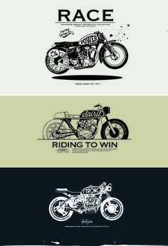 Motorcycle retro posters creative vector graphics 06