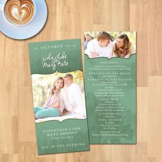 Watercolor Marbalized Simple Wedding Program Suite | Instant Download | Photo Wedding Program | PSD File | Printable