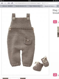 Mag 165 - - Dungarees and sneakers Patterns Knitting For Kids, Baby Knitting Patterns, Baby Patterns, Free Knitting, Baby Outfits, Kids Outfits, Baby Dungarees, Wool Shop, Baby Pants