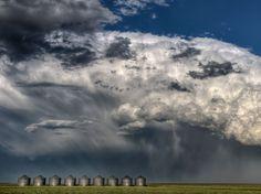 Thunderheads near Briarcrest, Saskatchewan