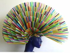 what did the artist use? straws