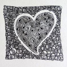 Heart in Heart | zentempletangles.com