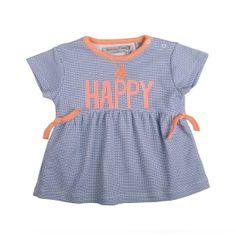 Zero2Three Jurkje Happy  Super leuk jurkje met frisse kleuren