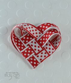 Valentine's Day Card: Woven Ribbon Heart