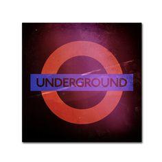 Philippe Hugonnard 'Subway City Wall Art London' Wall Art