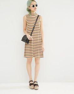 Image 4 ofMonki Striped Knitted Dress
