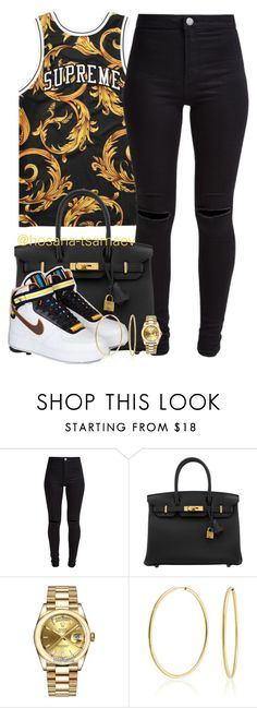 """You will see me thrive"" by hosana-tsarnaev ❤ liked on Polyvore featuring NIKE, New Look, Hermès, Rolex, Bling Jewelry, hermes, rolex, supreme and nikericcardotisci"