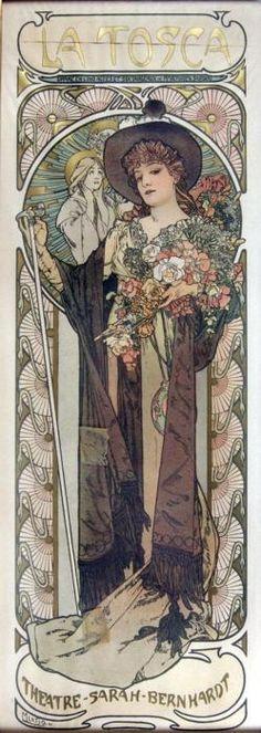 La Tosca (1899) by Alphonse Mucha