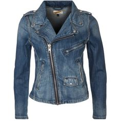 Schott NYC Denim jacket blue rain (8.480 RUB) ❤ liked on Polyvore featuring outerwear, jackets, dark blue, blue denim jacket, zipper jean jacket, dark blue jean jacket, zip jacket and dark blue denim jacket