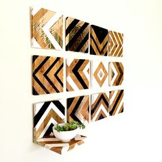 Chevron wall art from reclaimed wood.