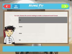 Each Kung Fu Writer app has a whole belt section dedicated to spelling. Over 100 grammar, punctuation, spelling and text type activities. In line with current education standards and all for less than £1!