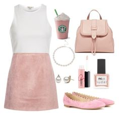 """""""trisha"""" by twyzter ❤ liked on Polyvore featuring River Island, Acne Studios, Chloé, ncLA, MAC Cosmetics and Lipsy"""
