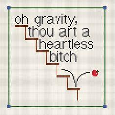 The Big Bang Theory, Sheldon, frase sobre la ley de gravedad , ja!