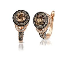 chocolate diamonds | Le Vian Chocolate Diamond 18k Strawberry Gold Earrings