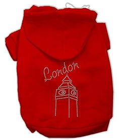 Mirage Pet Products London Rhinestone Hoodies Red L 14 *** See this great product. (This is an affiliate link)
