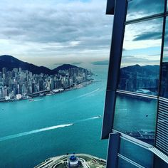 Victoria Peak from the 96th floor of ICC Building, Hong Kong's tallest