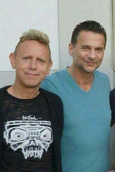 Dave Gahan & Martin Gore of Depeche Mode. Gahore