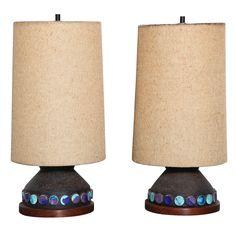 pair of Aldo Londi for Bitossi Table Lamps