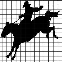 Cowboy Horse Rider Crochet Graphghan Pattern (Chart/Graph AND Row-by-Row Written Instructions)