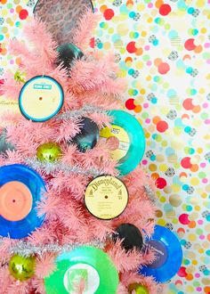 Decorate a Rocking Vinyl Record Music Tree!
