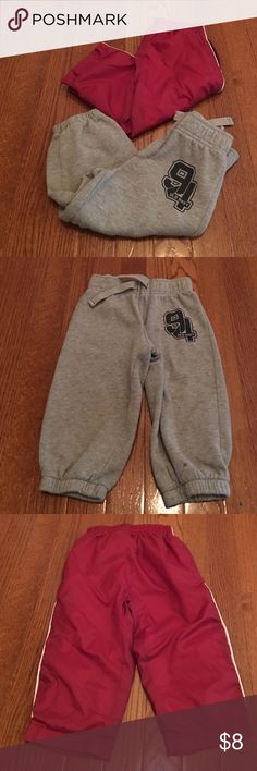Baby boy's joggers 2 pairs of baby boy joggers, grey pair is Old Navy and Bottoms