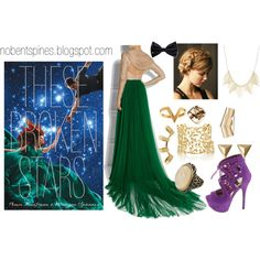 """""""These Broken Stars *book look*"""" by nobentspines on Polyvore"""