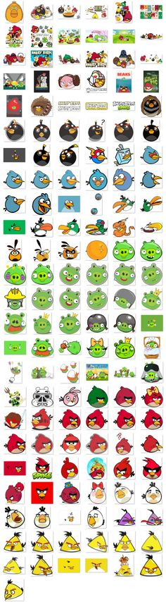 151 vetores do Angry Birds em CDR - envio grátis